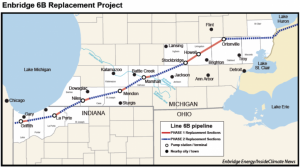 Enbridge's Line 6B expansion project.  Photo courtesy of Enbridge Energy.