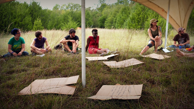 GPTSR Action Camp, Image obtained from Earth First Journal