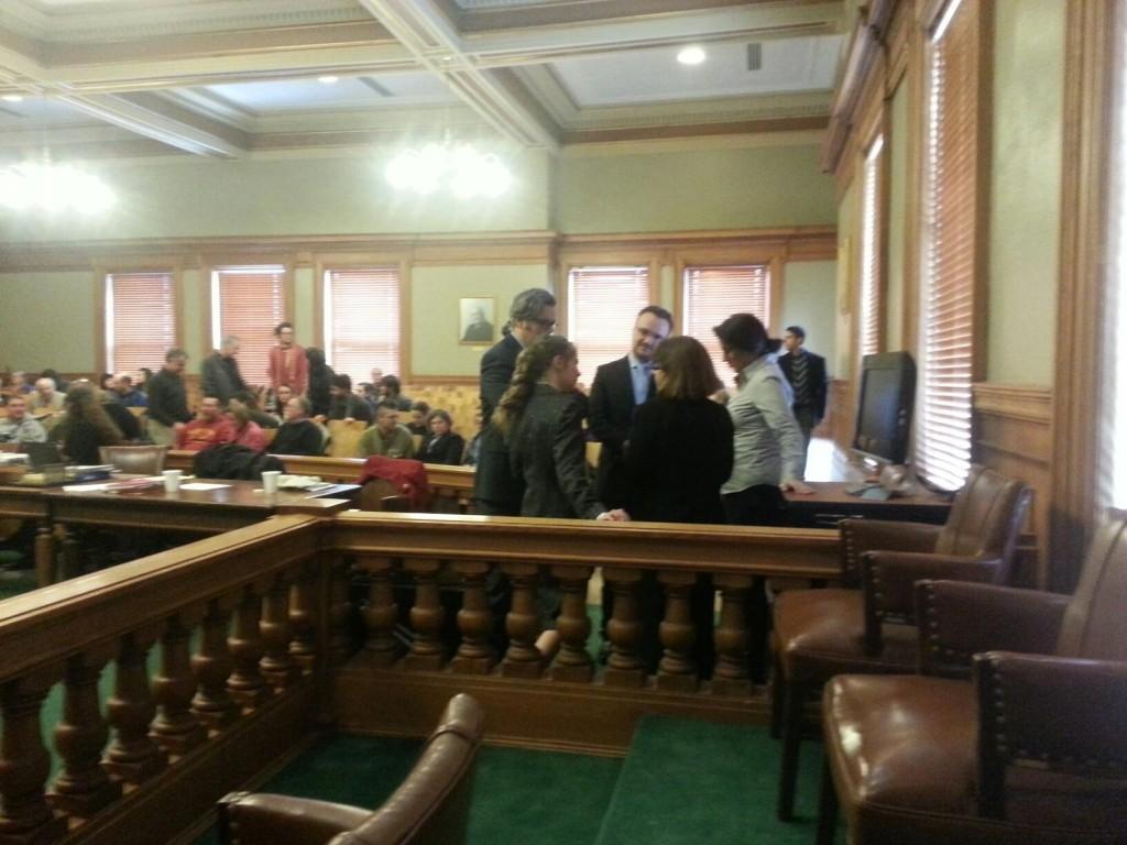 Pre-trial huddle