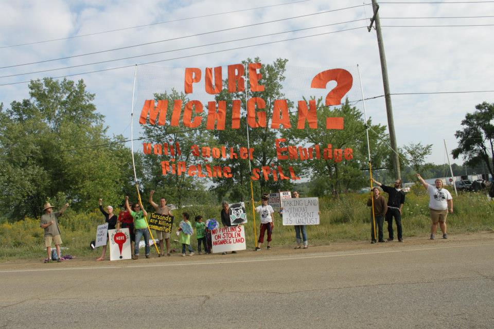 Standing in solidarity with all creatures impacted by tar sands spills