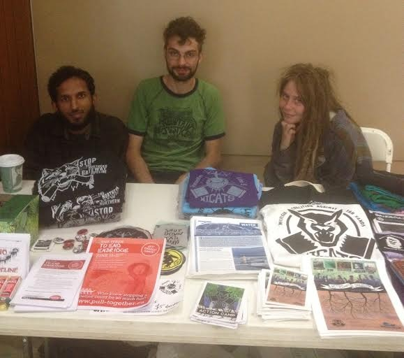 Tabling all weekend to resist Enbridge!