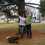 Lisa and Vicci in Mason, MI at Vicci's probation violation hearing.