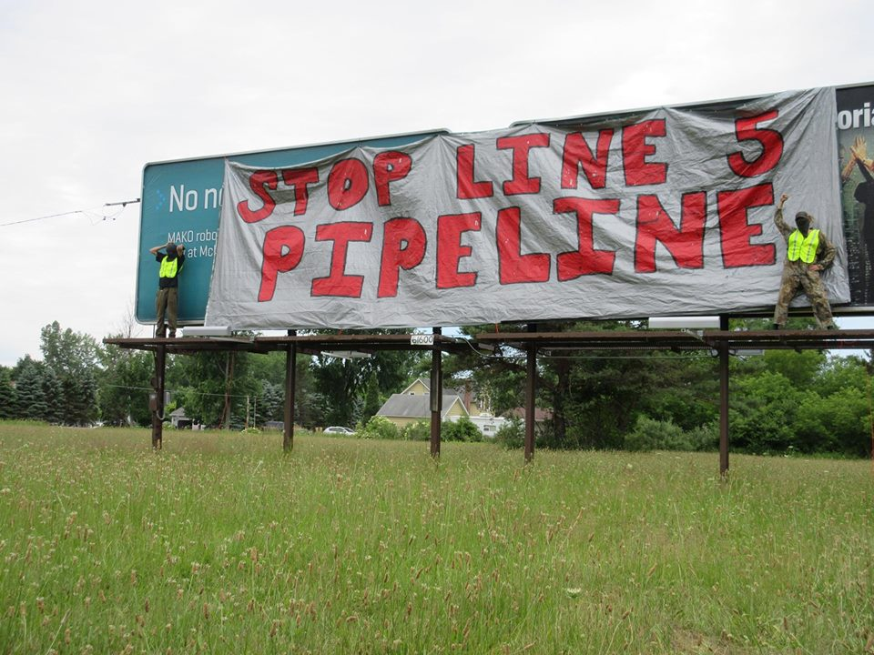 line5 billboard drop